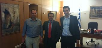 Συνάντηση με τον Αντιπεριφερειάρχη Κορινθίας κ. Γιώργο Δέδε και τον Υφυπουργό Παιδείας κ. Θεόδωρο Παπαθεοδώρου
