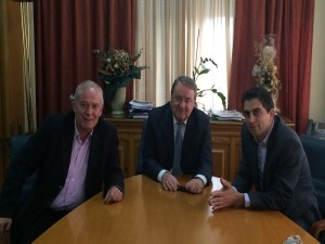 Επίσκεψη στον Υπουργό Αγροτικής Ανάπτυξης και Τροφίμων Γ. Καρασμάνη με τον Δήμαρχο Ξυλοκάστρου-Ευρωστίνης Ηλία Ανδρικόπουλο