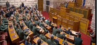 Για τα εθνικά θέματα ενημέρωσε την Σχολή Εθνικής Άμυνας ο Χρίστος Δήμας (video)