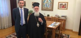 Συνάντηση με τον Αρχιεπίσκοπο Αλβανίας κ.κ. Αναστάσιο