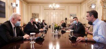 Δελτίο Τύπου 30.6.2020   Ο Χρ. Δήμας σε σύσκεψη υπό τον Πρωθυπουργό Κυριάκο Μητσοτάκη με στελέχη της ερευνητικής κοινότητας για τον COVID-19.