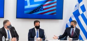 Στην Θεσσαλονίκη ο Χρίστος Δήμας για την υπογραφή της συμφωνίας συνεργασίας με τις ΗΠΑ στον τομέα της επιστήμης και της τεχνολογίας.